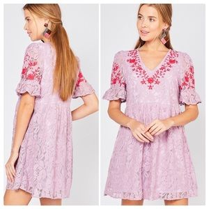 Entro Oh so Sweet Lace Baby Doll Dress